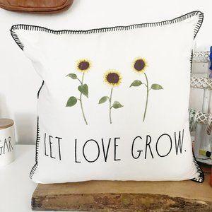 ✨ NWT Let Love Grow Sunflower Pillow | Rae Dunn